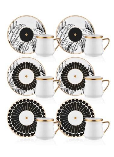 The Mia Cote Kahve Fincanı Seti - 6 Kişilik Renkli